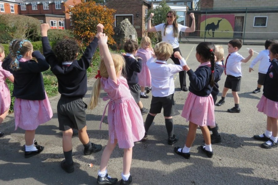 Outdoor phonics lesson
